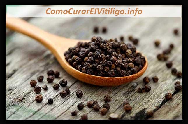 Pimienta Negra para El vitiligo