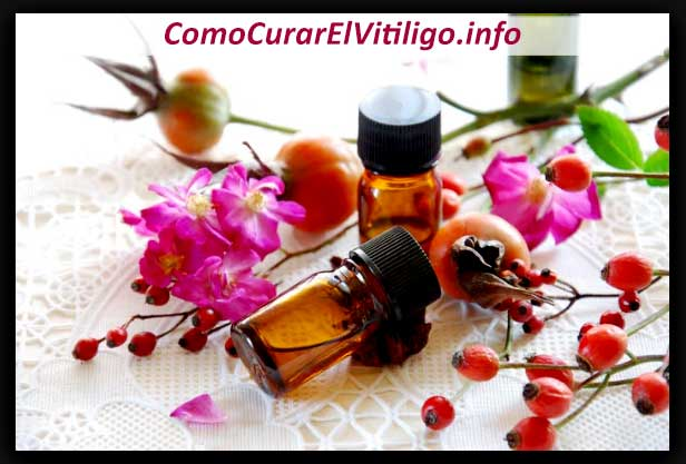 aceite de rosa mosqueta para Vitiligo